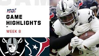 Raiders vs. Texans Week 8 Highlights | NFL 2019