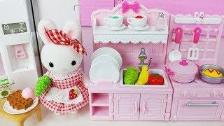 Rabbit mini kitchen cooking toys Baby doll orbeez bath play 콩지래빗 토끼 미니 주방놀이 요리 장난감 아기인형 목욕놀이 - 토이몽