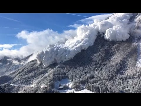 NATURAL DISASTERS  World's largest snow avalanche caught on camera