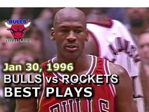 Jan 30 1996 Bulls vs Rockets highlights