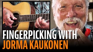 Watch the Trade Secrets Video, Jorma Kaukonen gives Dan Erlewine a fingerpicking lesson