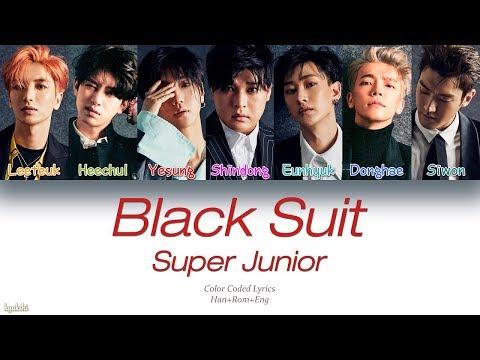 Super Junior (슈퍼주니어) – Black Suit (Color Coded Lyrics) [Han/Rom/Eng]