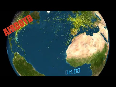 24 Hours Of Air Traffic - Atlantic Sphere View