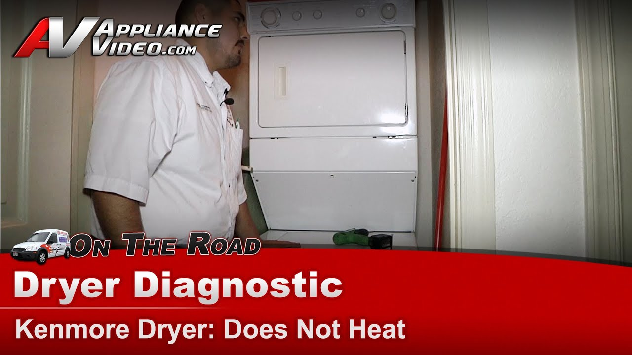 Kenmore Gas Dryer Diagnostic Does Not Heat 11099576200