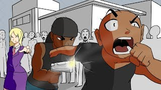 MY CRUSH HAD HER BOYFRIEND AND HIS GOONS JUMP ME! ( Animated Story )