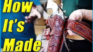 Leather Holster Making // Western Cowboy Fast Draw Rig // How It's Made