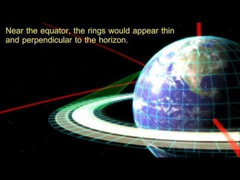 Jak wyglądałaby Ziemia, gdyby miała pierścienie jak Saturn?