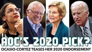 AOC Teases Her 2020 Endorsement