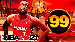 99 PRIME DWYANE WADE BUILD is UNGUARDABLE on NBA 2K21