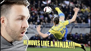 COACH REACTS (FIRST TIME) to Zlatan Ibrahimovic CRAZIEST Skills Ever | Impossible Goals