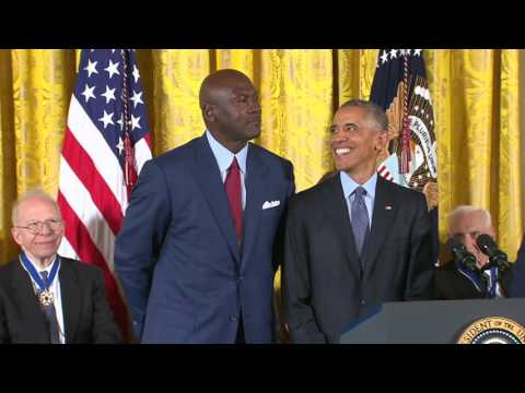 Michael Jordan Receives The Presidential Medal of Freedom