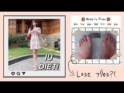 I TRIED IU KPOP IDOL DIET | LOSE 7 POUNDS IN A WEEK