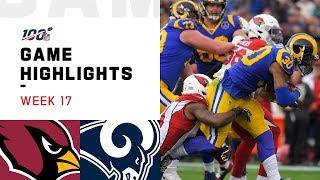 Cardinals vs. Rams Week 17 Highlights | NFL 2019