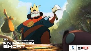 """2D Animated Short Film """"THE KING & THE BEAVER"""" Cute & Funny Animation by Gobelins"""