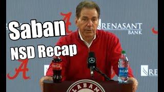 Nick Saban recaps National Signing Day   talks Bill O'Brien and the quarterback room