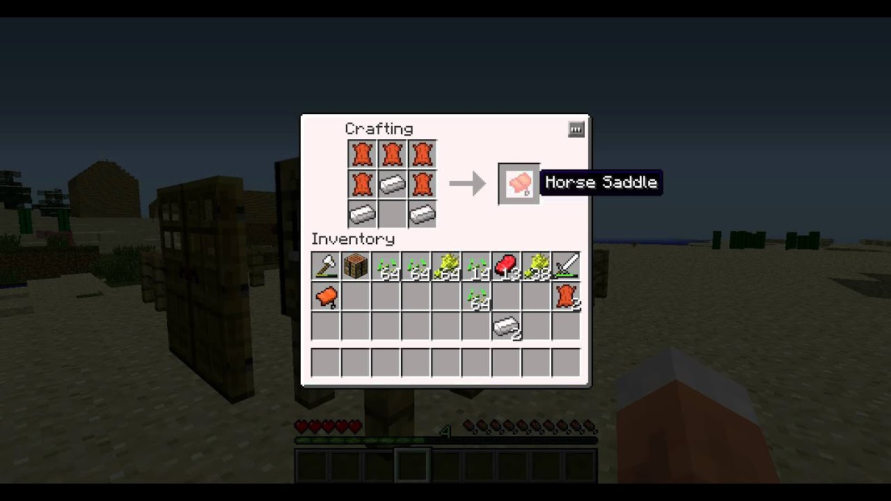 Crafting A Horse Saddle Minecraft