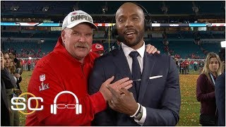Andy Reid video bombs after Super Bowl, ends up doing interview | SC with SVP
