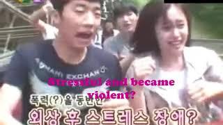 Wooyoung & Jiyeon holding hands riding roller coaster (ENG)