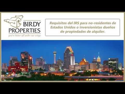 Requisitos del IRS para no-residentes de Estados Unidos dueños de propiedades de alquiler.
