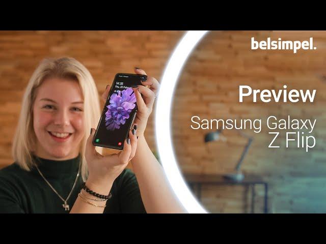 Belsimpel-productvideo voor de Samsung Galaxy Z Flip Black