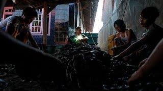 Rùng mình với lò lột da rắn làm... giày dép, túi xách ở Indonesia nhìn mà lạnh người