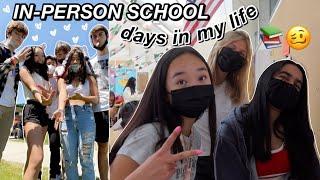 IN PERSON SCHOOL days in my life | Nicole Laeno