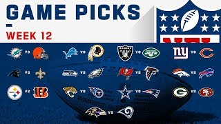 Week 12 Game Picks! | NFL 2019