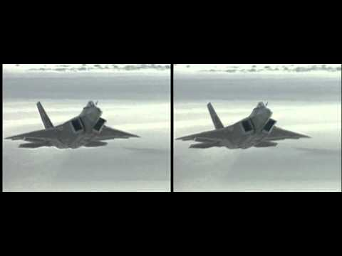 F22 Raptor USAF in HD 3D yt3d:enable=true