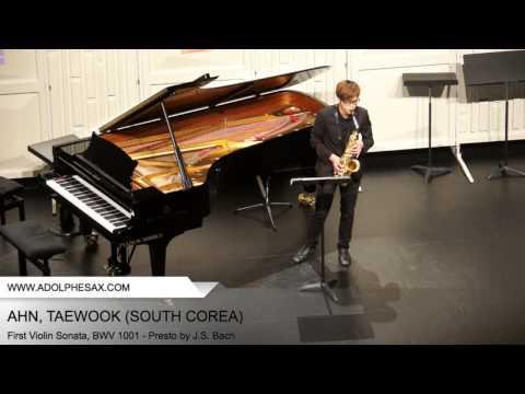 Dinant 2014 - AHN, Taewook (First Violin Sonata, BWV 1001 - Presto by J.S. Bach)