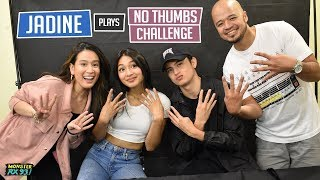 No Thumbs Challenge ft. JaDine | Monster Vlogs