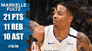 Markelle Fultz posts triple-double in Staples Center vs. the Lakers | 2019-20 NBA Highlights