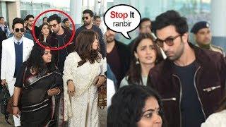 Ranbir Kapoor FIGHTS With Gf Alia Bhatt in Front of Ranveer Singh & Other Celebs At Delhi Airport