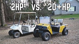 420cc Gas vs Stock Electric Golf Cart