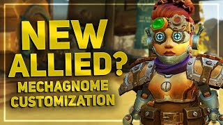 Mechagnome Customization Options Preview - New Allied Race In WoW 8.3?