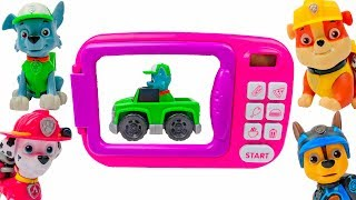 Learn Colors with Paw Patrol Toys and Microwave Playset for Children