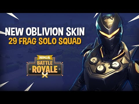 NEW Oblivion Skin!! 29 Frag Solo Squad!! - Fortnite Battle Royale Gameplay - Ninja