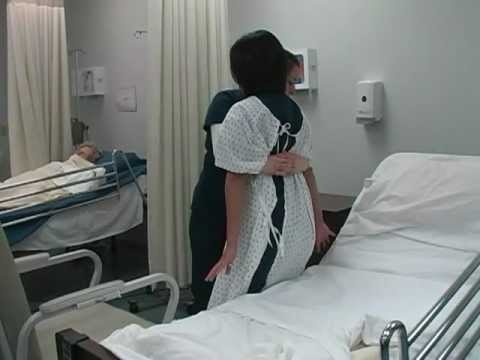 Nursing Transfer A Patient From Wheelchair To Bed Youtube