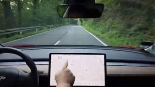 Tesla Model 3 Testfahrt mit AP 2.5 und Software Version v9