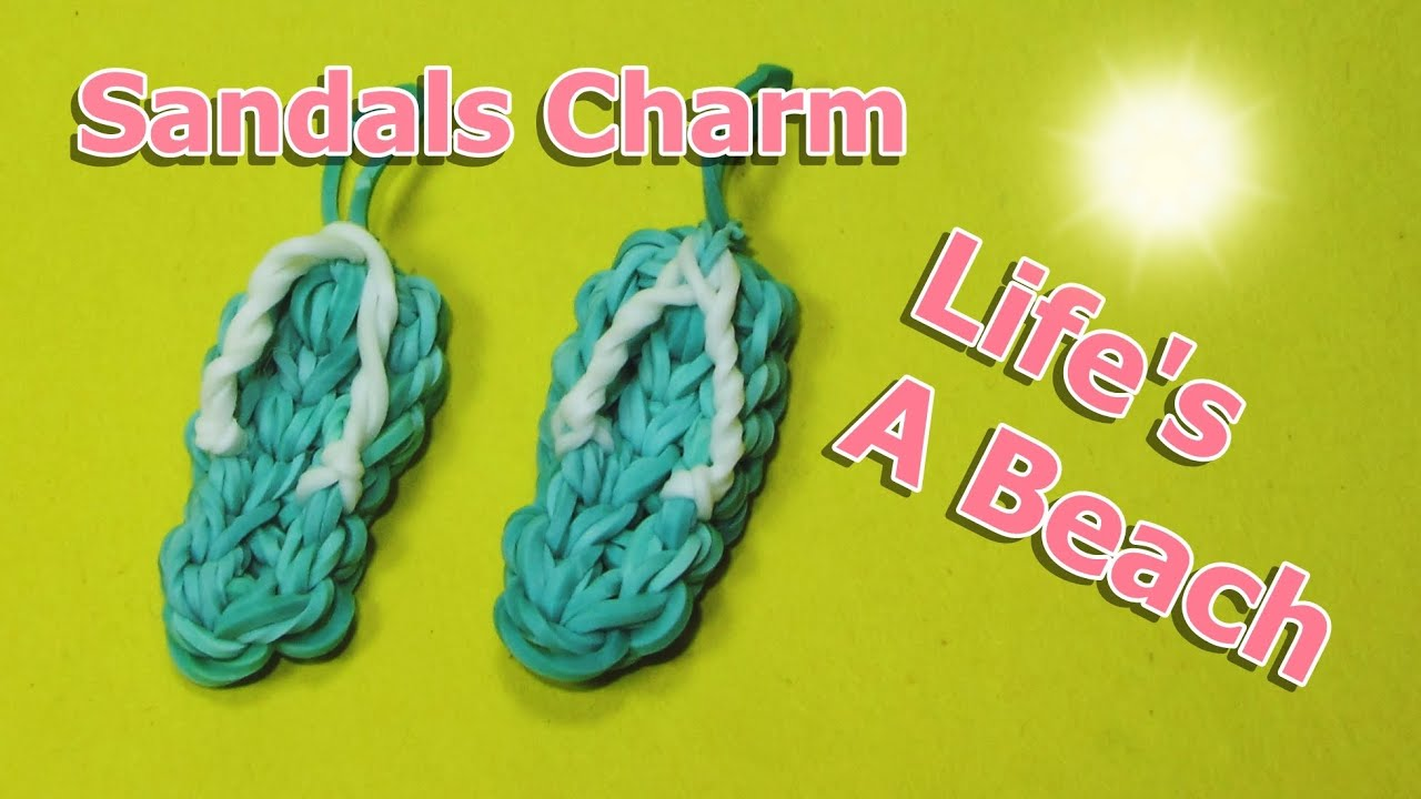 Rainbow Loom Charms Sandals Flip Flops Crazy Loom