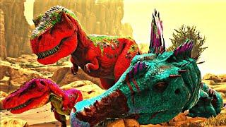 Papai T-Rex Ensinando Sua Bebezinha a Caçar! Dinossauros Ark Survival Evolved (PT/BR)