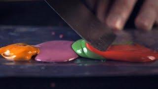 ASMR Mixing paint (oddly satisfying)