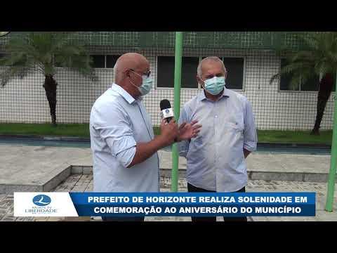 PREFEITO DE HORIZONTE REALIZA SOLENIDADE EM COMEMORAÇÃO AO ANIVERSÁRIO DO MUNICÍPIO
