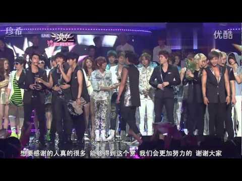 [中字] 120727 Super Junior - Music Bank 一位受賞