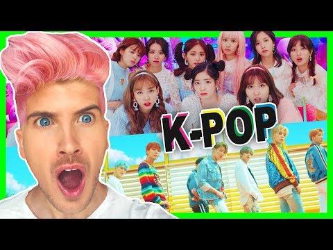 REACTING TO K-POP MUSIC VIDEOS! BTS, TWICE & More