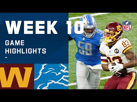 Washington Football Team vs. Lions Week 10 Highlights | NFL 2020