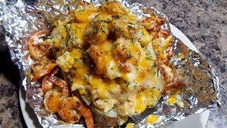 Loaded Shrimp Bake Potatoes / Ray Mack's Kitchen & Grill
