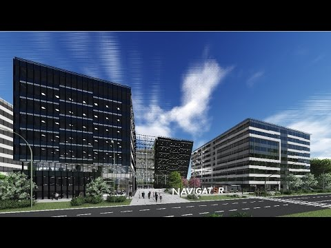 3d animation in architecture, office building design
