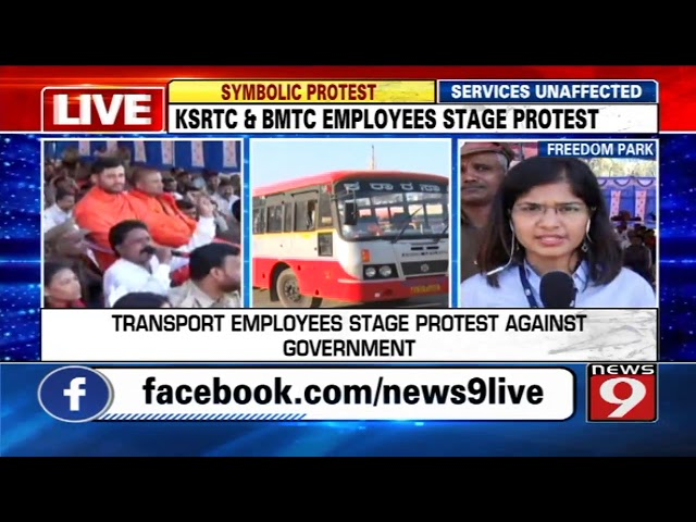 Transport employees stage protest