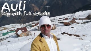 Trip Delhi to Auli I How to reach Auli I Best sking destinationI Drive on norrow & snow capped road
