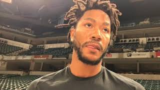 Derrick Rose speaks for first time since return to the Cavaliers